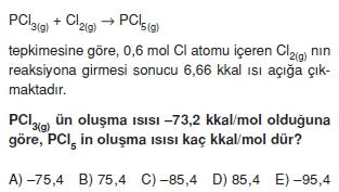 Kimyasaltepkimelerdeenerjikonutesti2006