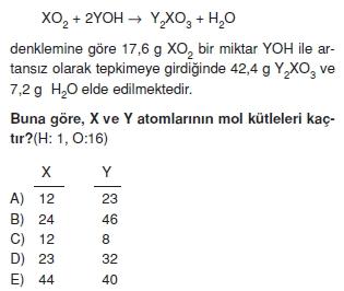 Kimyasalyasalarhesaplamalarcözümlütest1009