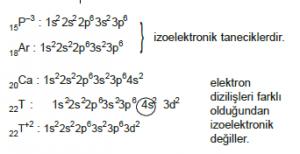 izoelektronik tanecikler