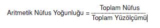 Aritmetik_Nufus_Yogunlugu