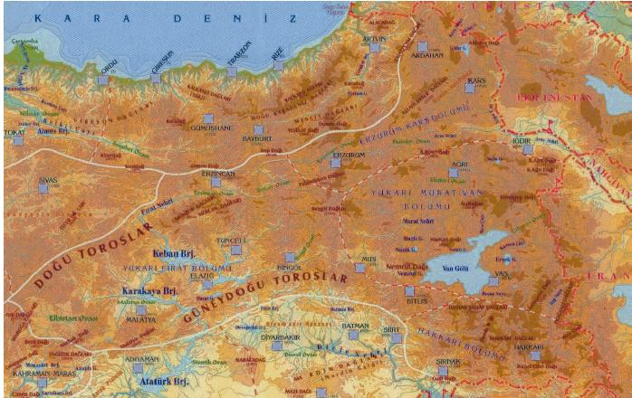 Dogu_Anadolu_Bolgesi_haritasi
