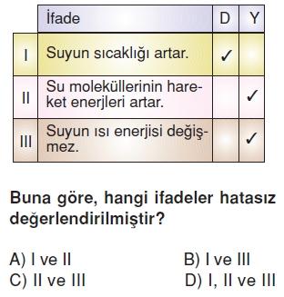 Maddeveisicözümlütest1011